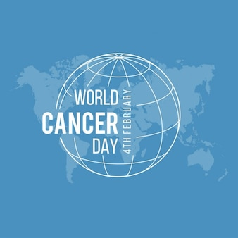 Blue background, world cancer day