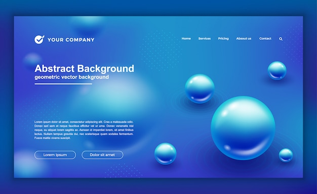 Blue background for your landing page.