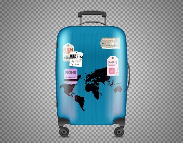 Синяя сумка, изолированные на прозрачном фоне
