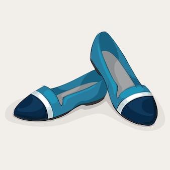 Blue ballet flats