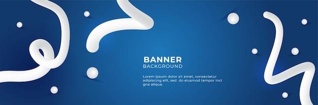 웹용으로 설계된 파란색 배너 템플릿입니다. 배경 또는 디자인 요소로 사용할 수 있는 기하학적 모양이 있는 단순한 파란색 배너 또는 배경. 3차원 픽셀화 모자이크.