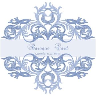 Blue baroque card design