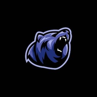 青いクマのイラスト