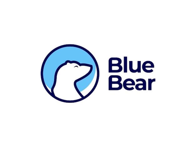 青いクマのロゴのデザインコンセプト