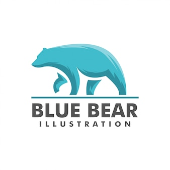 Blue bear logo