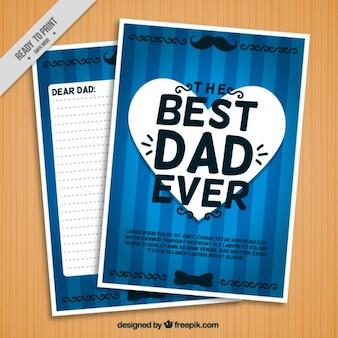Blue best dad ever letter