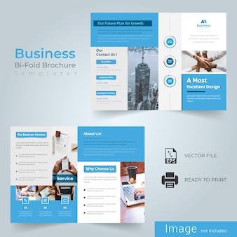 Blue Bi Fold Brochure Design