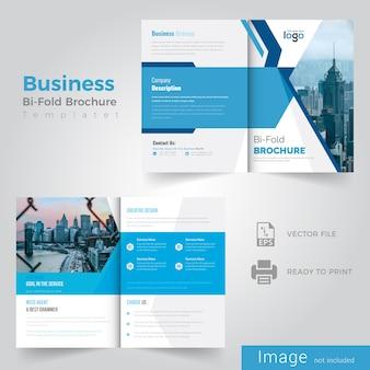 Blue bifold brochure design