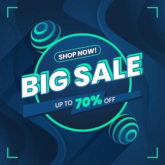 Blue big sale promo