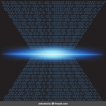 Blue binary background