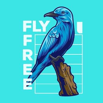 Голубая птица геометрия векторные иллюстрации