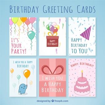 Синий день рождения поздравительные открытки