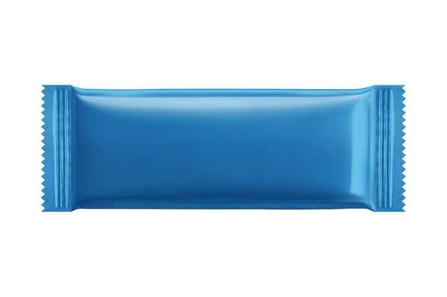 Дизайн упаковки голубого печенья в 3d иллюстрации