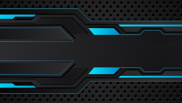 Blue and black abstract metallic design tech innovation concept background.