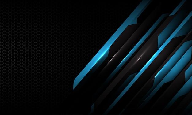 Синий черный цепи металлик темно-серый шестиугольник сетки футуристический фон технологии.