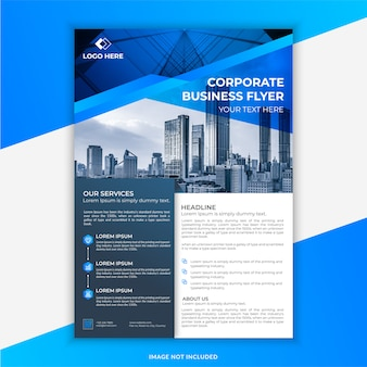 Blue and black modern corporate business flyer