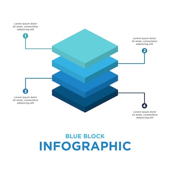 Blue block infographic template