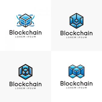 Blue blockchain logo inspiration