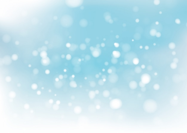 Blue bokeh abstract background. vector illustration