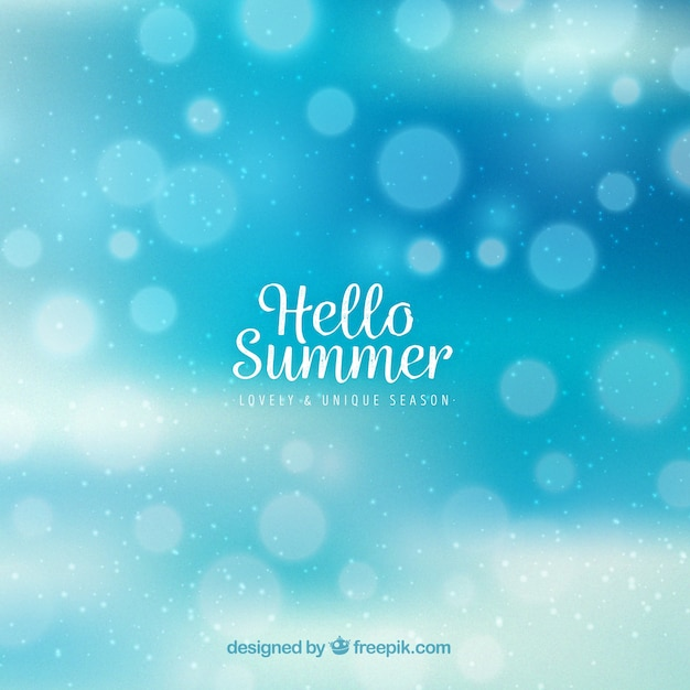 Blue bokeh summer background