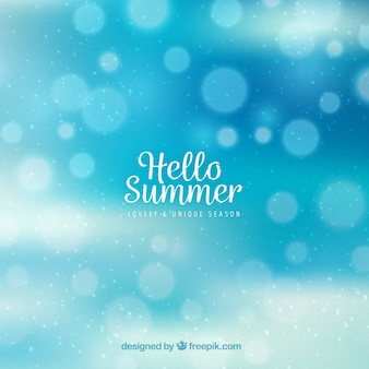 Blue bokeh summer background