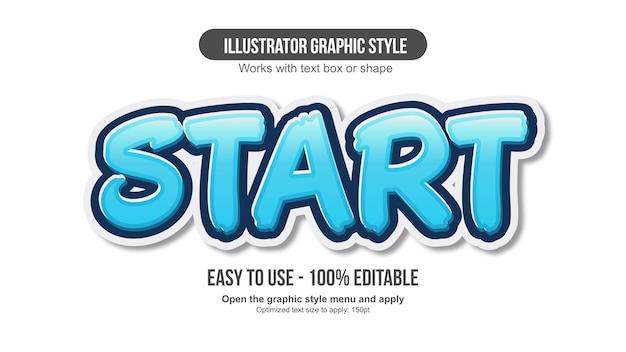Blue bold brush 3d text effect