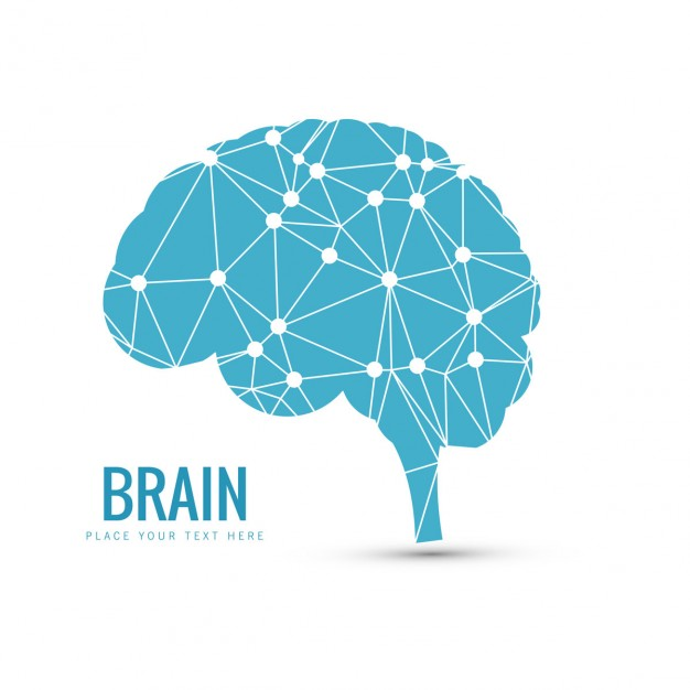 Blue brain background