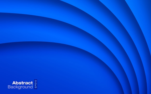 Blue bright color wavy background. paper curve shadow texture.