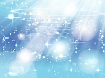 Blue bright sky sparkles vector
