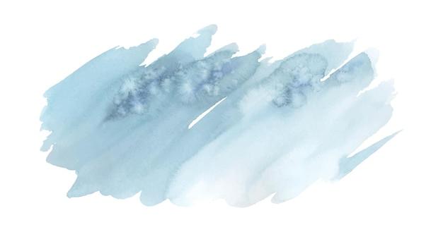 Синяя кисть окрашена акварелью абстрактный фон пятна художественного вектора, используемые как элемент декоративного оформления логотипа, открытки, плаката или рекламного баннера. кисть включена в файл.