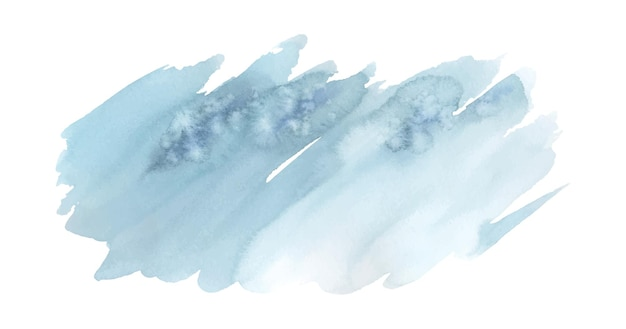 Blue brush painted watercolor abstract background stains artistic vector used as being an element in the decorative design of logo, card, poster, or sale banner. brush included in file.
