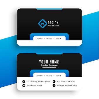 Biglietto da visita blu per l'identità del marchio