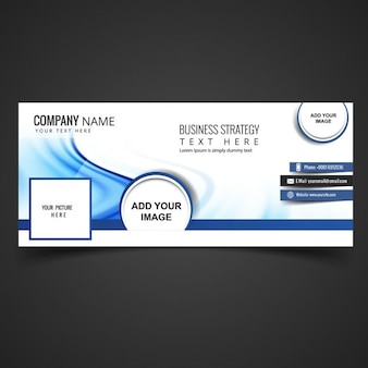 Blue business facebook cover