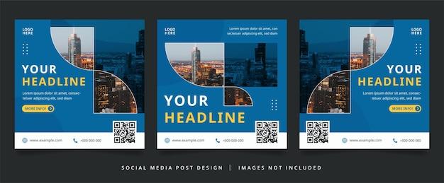 Blue business flyer or social media banner