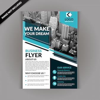 Blue business magazine template