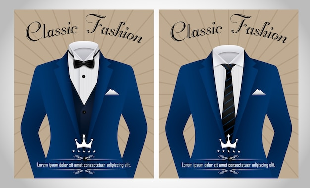 Blue business suit template