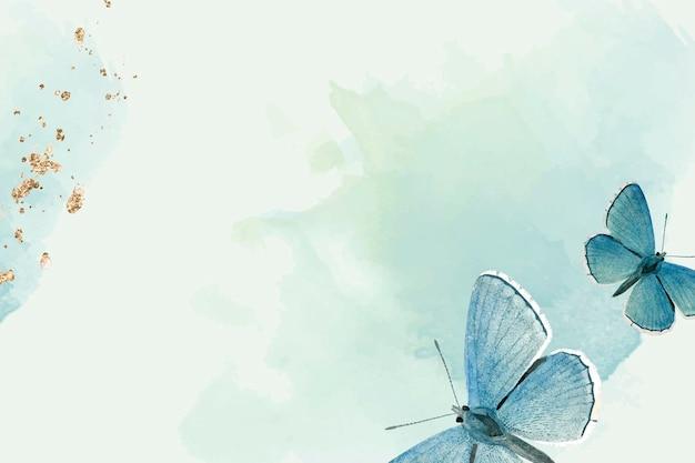푸른 나비 무늬 배경 무료 벡터