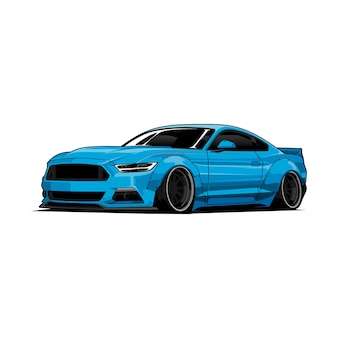 Blue car illustration