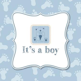 Мальчик приглашение младенца для душа ребенка