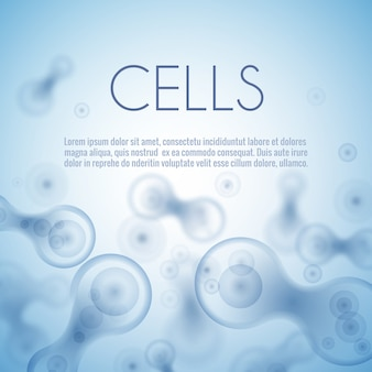 Blue cell background. life and biology, medicine scientific, molecular research dna.