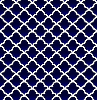 Blue ceramic tile pattern seamless