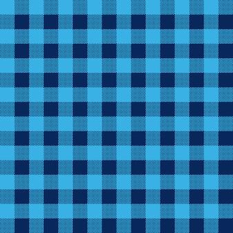 ブルーチェック繊維のシームレスパターン