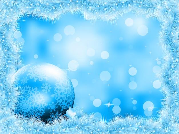 Синий новогодний фон