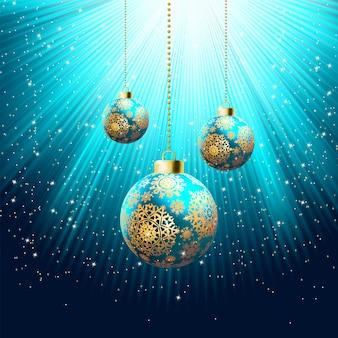 ブルークリスマスの背景。