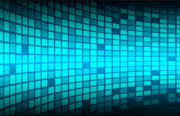 Blue cinema led screen pixel