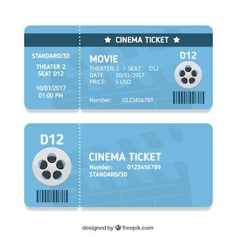 Biglietti del cinema blu