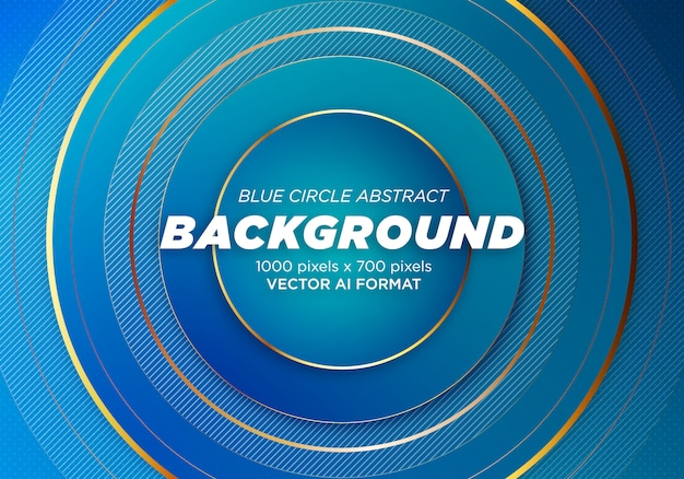 Blue circle abstract background