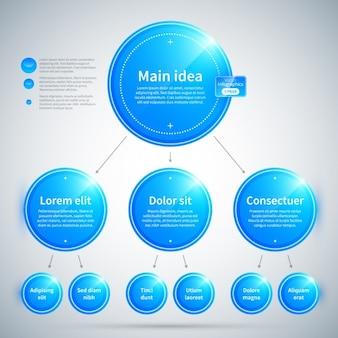 Синий схема кругов с глянцевой текстурой