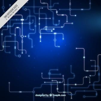 Circuito sfondo blu