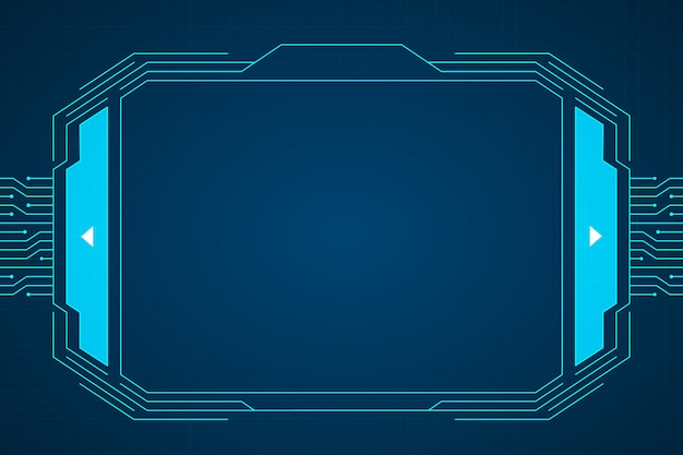 Blue circuit technology interface hud background design.